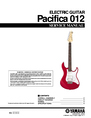 Yamaha Pacifica 012 Service Manual