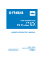 Yamaha FX SHO Manual