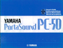 Yamaha PC-50 Manual