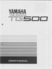 Yamaha TG500 Manual