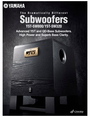 Yamaha Advanced YST and QD-Bass Subwoofers Manual