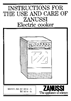Zanussi EC 5614 - A Manual